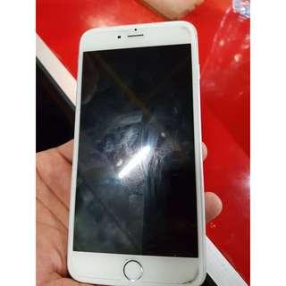Iphone 6 plus 64gb white silver