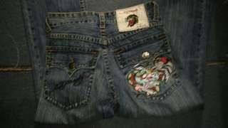 Ed hardy jeans embroidered