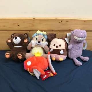 🚚 娃娃機玩偶 小熊 奇奇蒂蒂 鯉魚王 米奇毛絨玩具