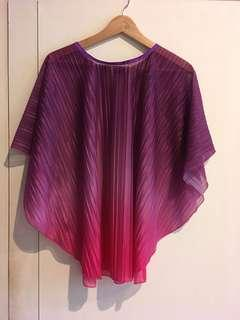 Hand-made outer / model poncho / outer colorful