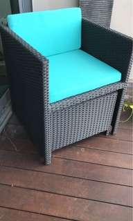 Outdoor Chair with leg rest