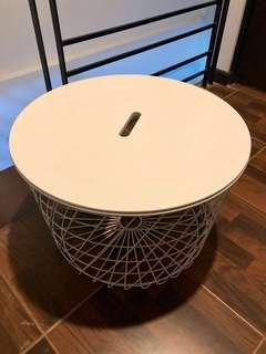 IKEA Wired Table with Storage (White)