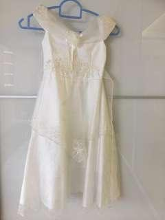 White fairytale lacy dress for 4 years old