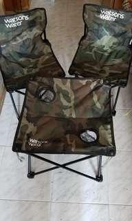 露營用摺枱櫈一套