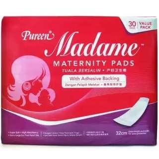 Madame Maternity Pads 30pcs (New)
