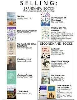 BRAND NEW YA BOOKS