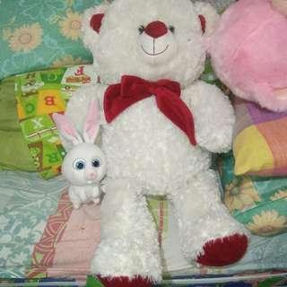White Teddy Bear Stuffed Toy