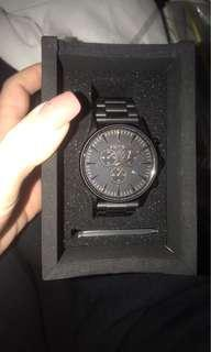 Nixon sentry chrono watch black And rose gold