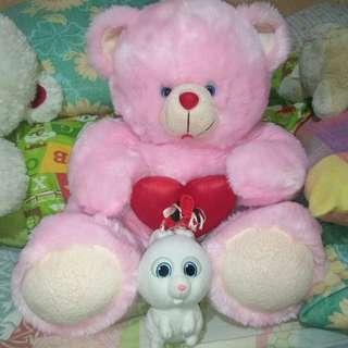 Pink Teddy Bear Stuffed Toy