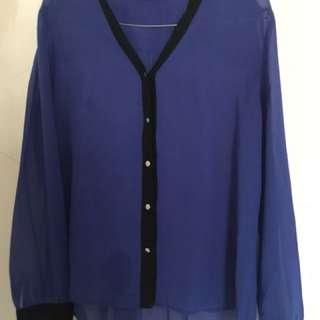 Executive Navy Blouse