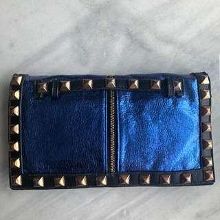 Studded Clutch Blue