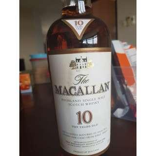 Macallan 10 Year Old Sherry Oak - Discontinued in2012