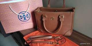 Tory Burch Robinson Mini Double-Zip Tote Bag