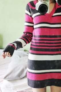 Stripes Knittted Dress