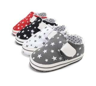 🌟PM for price🌟 🍀Baby Boy Girl Star Printed Soft Sole Anti Slip Shoes🍀