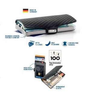I-clip wallet carbon leather