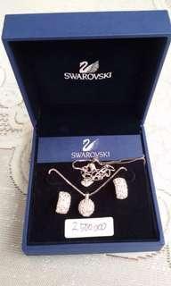 Swarovski Necklace Earing Kalung Anting Original
