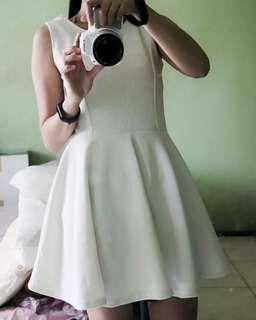 White Ballerina Dress & Cardigan - 2 for 300