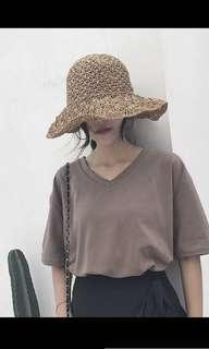 Mocha Brown Oversized Tshirt