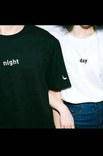 ulzzang day and night tee(instock)