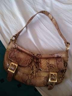 Snake skin inspired petite bag