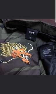 HUF Dragon camo coach jacket
