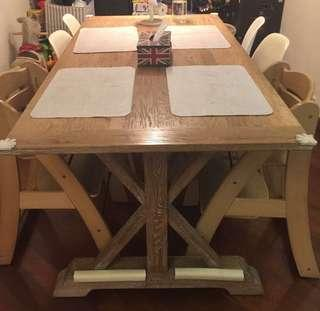 Wooden Table (Original Wood Colour) 原木色 實木餐桌