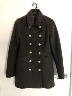 NEW- Portmans double breasted khaki wool coat