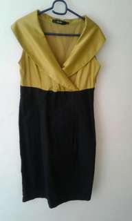 Black and Gold smart casual dress