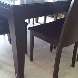 CHEAP. SOLID 8 seater teak dining set