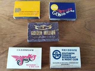 Mixed of night club match boxes