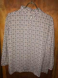 Patterned Office Blouse