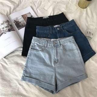 👼🏻 (PO) High Waisted Denim Shorts