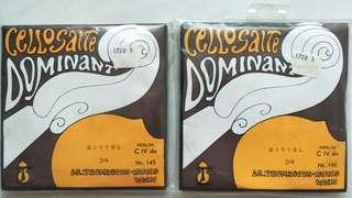Thomastik Dominant 3/4 Cello String Set