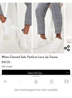 PLT platform sneakers