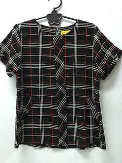 Yellowone tartan blouse