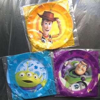 3隻膠餐碟 合售不散 OK便利店xDisney/Pixer