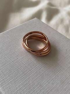 Rose gold trilogy Russian infinity ring S