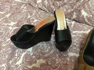 Wedges black colour size 35
