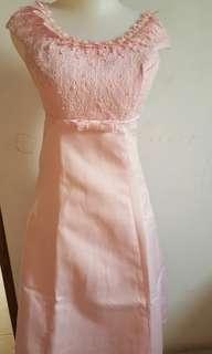 Gaun baby pink cantik
