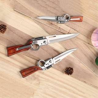 Folding Rifle Knife with LED light