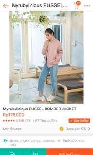 Bomber Jacket Pink (look a like stradivarius/bershka bomber)