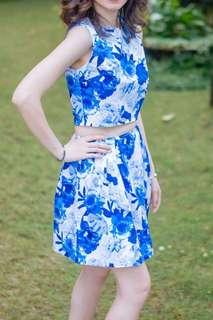 Just G blue floral terno for RENT