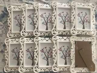 White vintage picture frames brand new and sealed