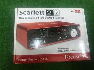 Focusrite Scarlett 2i 2 studio Audio interface
