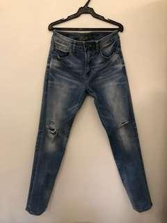 American Eagle Slim Straight Ripped Jeans