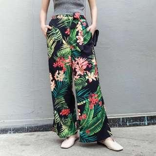 Hawaiian Boho Floral Pants
