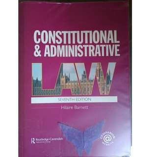 Law Book - Constitutional & Administrative Law