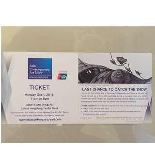 Asia Contemporary Art Show Ticket Admits One