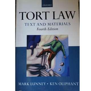 Law Book - Tort Law text and materials